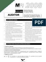 Tcmrj08 Auditor Prova Disc01