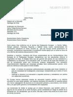 Carta Para El Presidente de Chile y El Ministro de Educacion