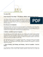 Four Good and Four Bad - Presidents PIIGS and Printing Presses November 2011 CA