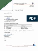 Certificacion 2011-2012-25 Enmienda Calendario 1er Sem 2011-2012