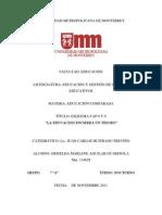 """""""La educación encierra un Tesoro"""".  Delors Cap 8 y 9"""