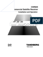 Tandberg CSR820 Commercial Satellite Receiver