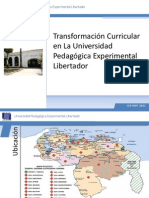 Transformacion Curricular UPEL
