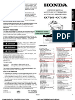Honda 160cc Manual