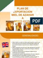 Plan de Exportacion de Miel de Azahar