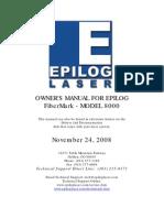 Manual Epilog Laser Mod 8000