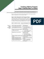 Metrics Identify Data to Collect
