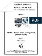 MODUL STATA - Data Management (2011)
