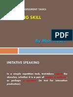 Designing Assessment Tasks in Speaking