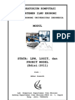 MODUL STATA - LPM, Logit Dan Probit Model (2011)