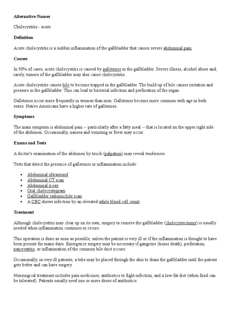 cholecystitis | gallbladder | clinical medicine