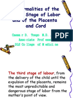 Ob - Abnormalities of the Third Stage of Labor And