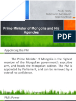 Prime Minister of Mongolia and His Agencies