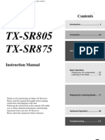 TX-SR805 875 Commandes Groupees Fr B En