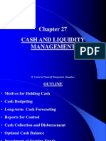 Chapter 27 Cash and Liquidity Management