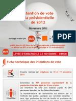 Intention de Vote Bva-Orange