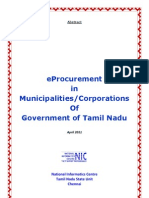 eProcurement in Municipalities-Corporations Pf Government of Tamil Nadu-Mr M Manivannan,Mr K Srinivasan Raghavan