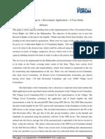 Capacity Building in  e Governance Application – A Case Study -SANJAY G KULKARNI