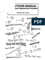 Bio Process Engineering Principles [Solutions Manual] - P. Doran (1997) WW