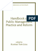 Handbook of Public Management Practice and Reform 0824704290
