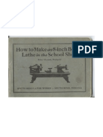 How to Make an 8-inch Bench Lathe in the School Shop - 1920