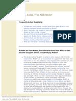 Arabic, Arabs, _The Arab World