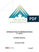 Introduction to Defence Ethics