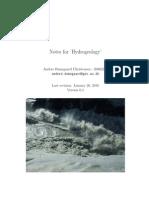 Notes Hydrogeology[1]