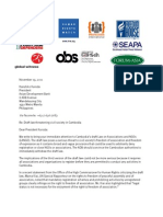 Joint Letter to ADB on draft NGO Law Nov. 19 '11