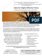 7 HABITS for Highly Effective Teens