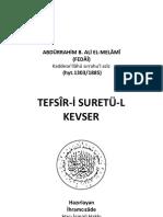 ABDÜRRAHİM B. ALİ EL_MELÂMÎ (FEDÂÎ) TEFSÎRİ SURETÜL KEVSER