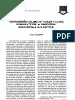 Roy Hora · 2001 · Terratenientes ales y Clase Dominante en La Argentina