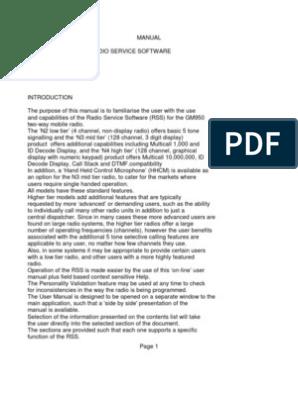 GM950 Programming Manual | Computer File | Radio