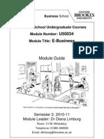 E-Business Module Guide