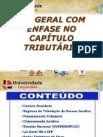 LEI GERAL COM ÊNFASE NO CAPÍTULO TRIBUTÁRIO