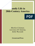 Family Life in 20th Century America