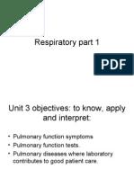 Respiratory part 1