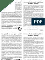 Panfleto Greve Geral Nov 2011