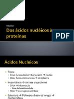 Aula 1 - Dos ácidos nucléicos às proteínas