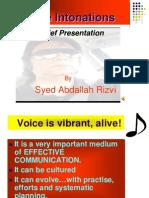 Voice Intonations Rizvi