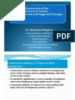 Regulatory Frameworks of the Construction Sector in Yemen