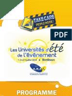 Universités2010ProgrammeIntervenants