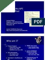 10-06 Solid Works API Demystified