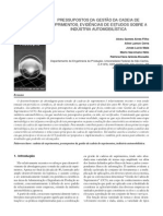 [a] Pressupostos da Gestão da Cadeia de Suprimentos evidências de estudos sobre a indústria automobilística.