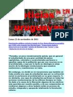 Noticias Uruguayas Lunes 21 de Noviembre de 2011