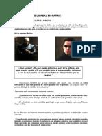 El Problema de Lo Real en Matrix