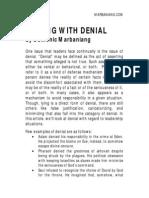 Dealing With Denial The Biblical Way