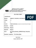 Plan de Curso Ambiente y Desarrollo Sostenible en Venezuela