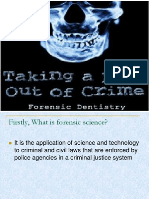 Forensic Dentistry Odontology James Herrera Dentistry Forensic Science