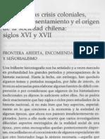 MC0012764 - ROLANDO MELLAFE - Las Primeras Crisis Coloniales Formas de to y El Origen de La Sociedad Chilena Siglos XVI y XVII